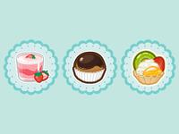 para los menús de CCS Cupcake Shop
