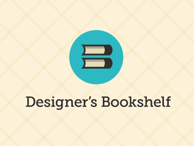 Designer's Bookshelf - Letterform mark designers bookshelf logo mark brand circle book review blog letter b b museo slab green yellow pattern