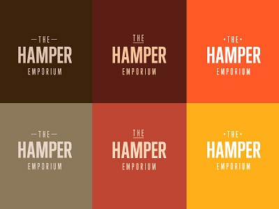 Hungry Colours the hamper emporium hamper food basket colour color swatch orange brown red logo condensed signature pallette gift type typography wip