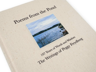 Poems from the Pond layout design book poetry