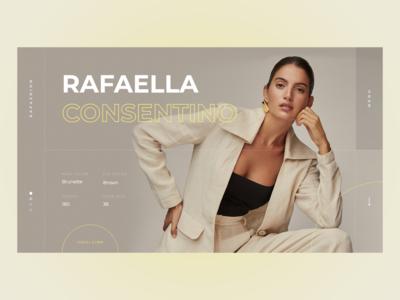 Model Profile UI design