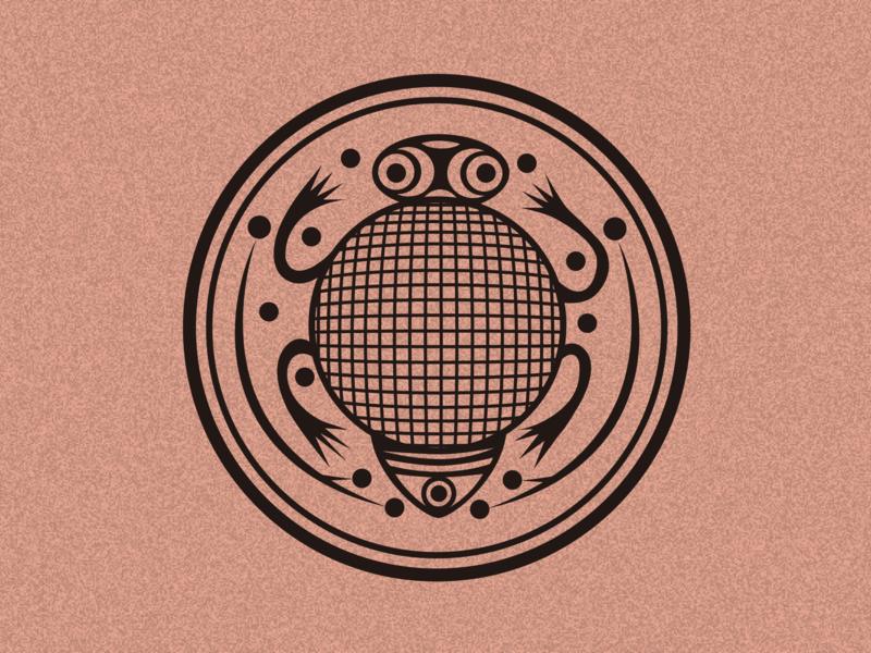 Pottery Pattern Wealth Frog logo icon 彩陶 中国风 古典图案