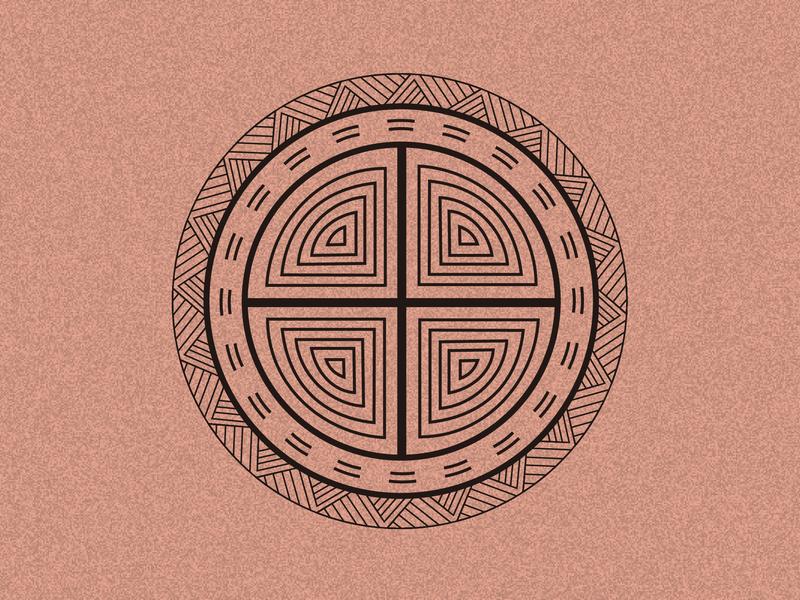 Pottery Pattern Back branding logo 古典图案 彩陶 illustration 中国风