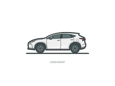 Lexus Nx200t  gray illustration lexus car ui