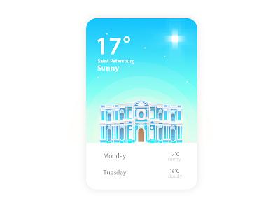 St. Petersburg blue weather app ui