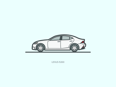 Lexus is300  gray illustration lexus car ui