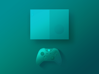 Games console gradient games s one xbox green illustration app ui