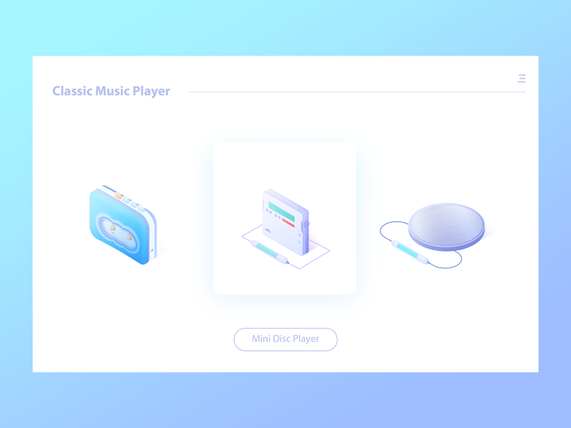 Classic music player player md cd icon colour music
