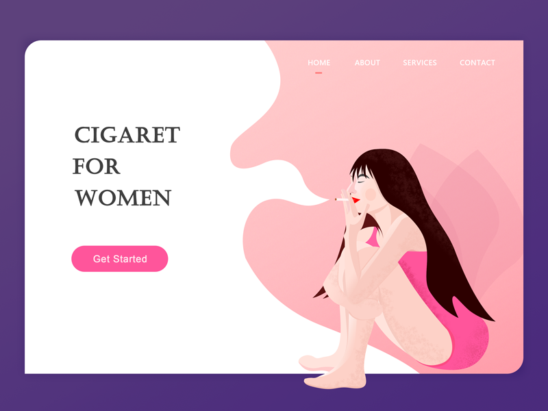 Cigaret for women girl web pink ui