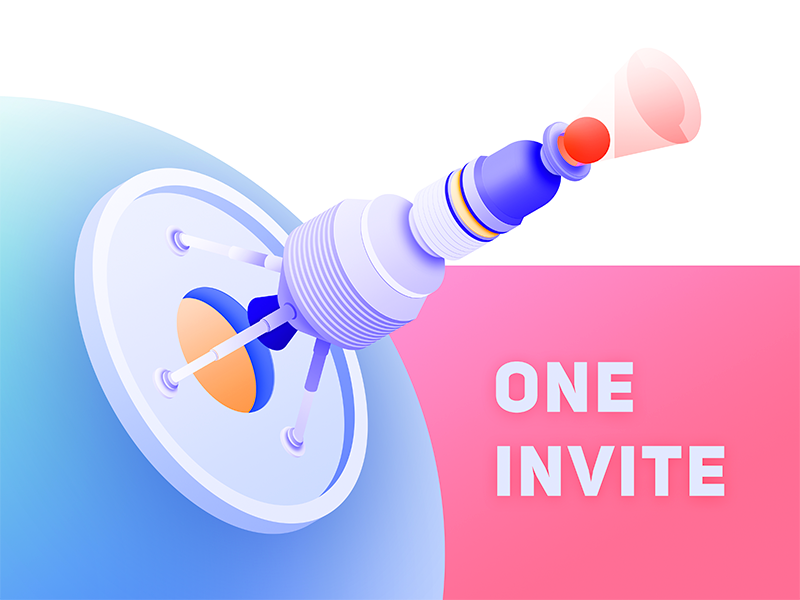 1 invite invite design illustration app colour ui