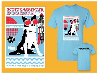 City of Boulder Dog Dayz Design poster tshirt dogswim k9 dogs