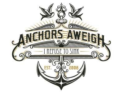 Anchors Aweigh Productions logo vintage logo anchor