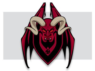 Vivace18b Dribbble logo soccer demon