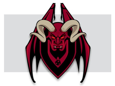Vivace18b Dribbble logo soccer demon