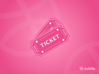 2 Invites invites ticket 2d dribbble