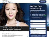 Acuvue® Singapore - Eye Beauty Forum Microsite
