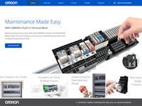 Design of Omron Panel Solutions Microsite