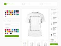 Design Mockup For An Apparels Printing Company