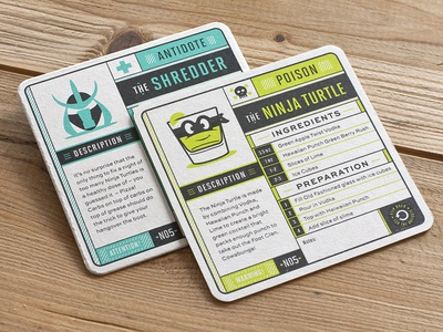 The ninja turtle by ross moody dribbble for Coaster design ideas
