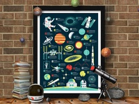 The Space Alphabet Poster