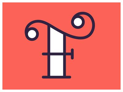 EFF f type typefight monoline simple script swirl dot