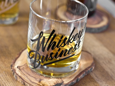 Whiskey Business whiskey business typography type paint glass glassware