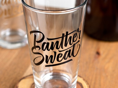 Panther Sweat panther sweat type typography mike melvas script brush custom type glass sign painting