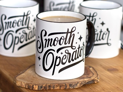 Smooth Operator type script typography smooth operator mug