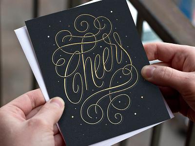 Cheers flourishes swirly shit swirls typography type cheers