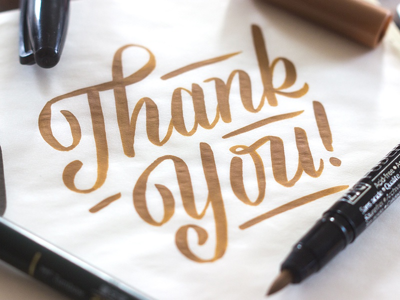 Thank Ya thank you viktor hand done script brush typography type
