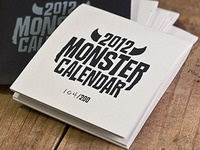 Monster Calendar 2012