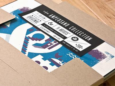 The Ampersand Collection ampersand collection packaging kraft sticker typography muncie deming lost type limited edition