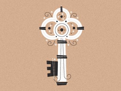 Print Pair Key print pair pair print screenprint illustration illustrator kraft brown white black key lock