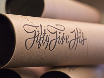 Poster Tube poster tube kraft mailer script stamp