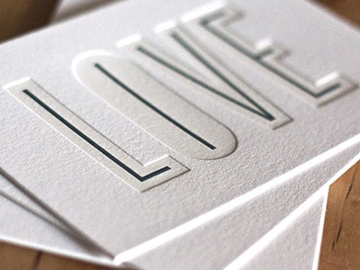 Detail Love letterpress cranes lettra love live cyclone print