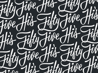 Logo Pattern pattern logo repeating script type typography fifty five ligature