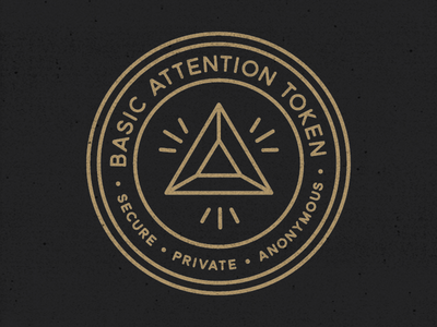 Basic Attention Token Badge badges icon monoline seal illustration badge cryptocurrency basic attention token