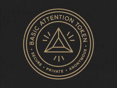 Basic Attention Token Badge badges icon monoline seal illustration badge cryptocurrency basic attention token