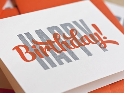 Birthday Overprint
