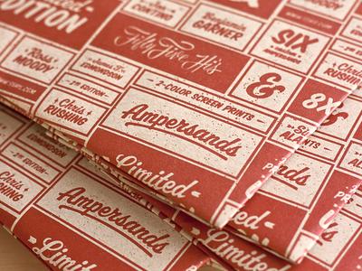 Ampersand Teaser ampersand packaging prints paper ampersandtastic ampersand collection