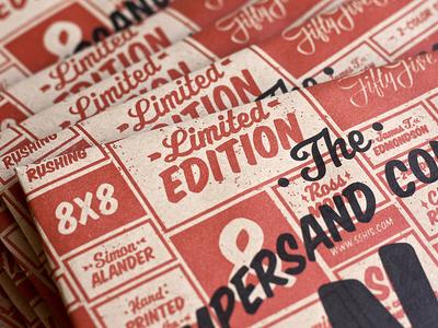 The Ampersand Collection 2 ampersand collection ampersands prints print screenprint limited edition designers