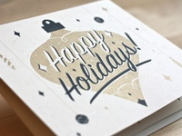 Ornament Card ornament card holidays christmas print screenprint type origami pop-out