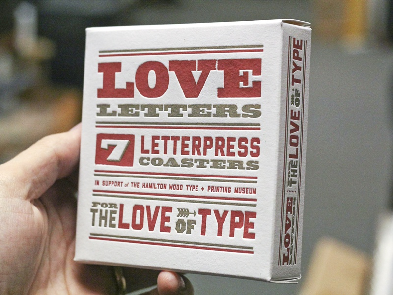 Love Letters Packaging packaging letterpress coaster type love letters typography sauce mama hamilton benefit