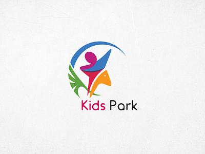 Logo park color illustrator sketch entertainment logo kids graphic