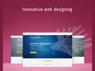 Responsive Website page landing experience interface user web responsive design material photoshop