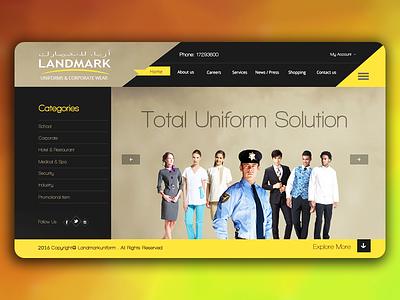 Creative Website e-commerce black yellow invite dribbble suit dress company school uniform