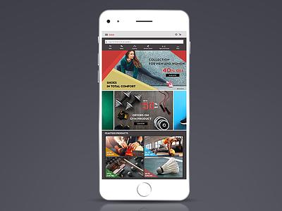 Sports Accessories E commerce App app. ux ui mobile ios app