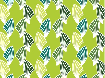 Fronds and Fans (green) pattern surface