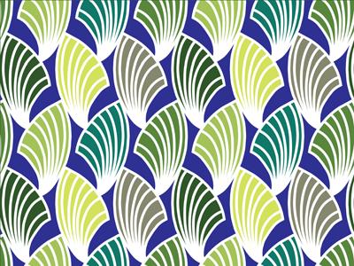 Fan Pattern Dribble art deco design surface pattern