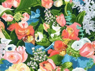 Flowers painting flowers floral illustration